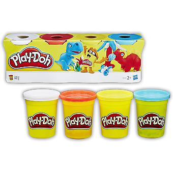 Play-doh 4-Pack Farben Sortiment