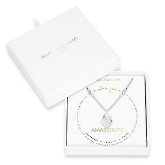 ジョマジュエリーウェルネス宝石シルバーアマゾネアイト45cm + 5cmエクステンダーネックレス4229