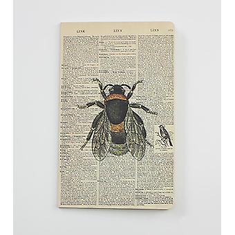 Bee Dictionary Art Notebook