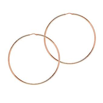 The Hoop Station Chica Latina Rose Gold Plated 65 Mm Hoop Earrings H114R