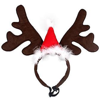 Headband Deer Horn, Hair Hoop Hat, Costume Cosplay Dog, Cat Accessories