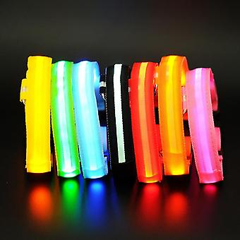 Led Lights Dog Collars Night Safety Anti-lost Flashing Nylon