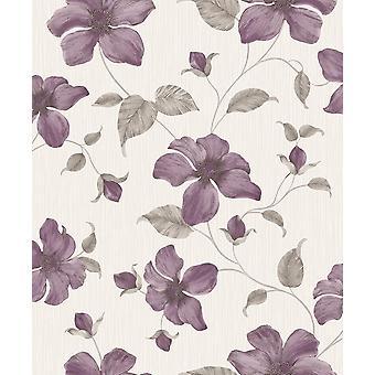 Magnolia Purple Wallpaper