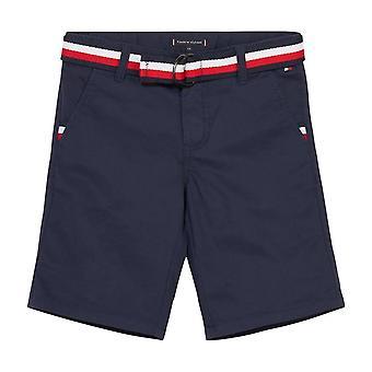 Tommy hilfiger boys navy chino shorts kb0kb05603