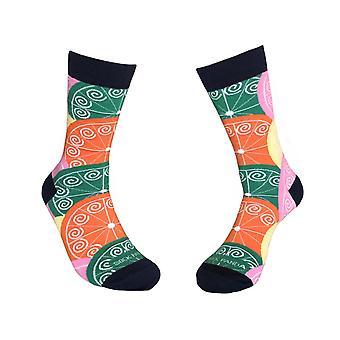 Eloisat sitrushedelmäkuvioiset sukat