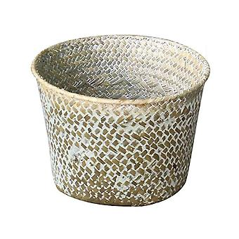 Handmade bamboo rattan storage baskets