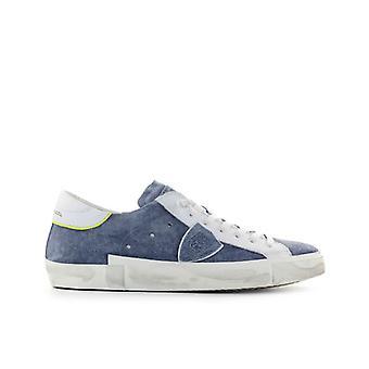 Philippe Modèle Prsx Blue Jeans Suède Sneaker