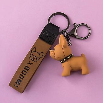 Ins Method Fighting Dog Keychain Car Chain Ring Lanyard Cute Doll
