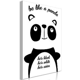 Wandbild - Be Like a Panda (1 Part) Vertical