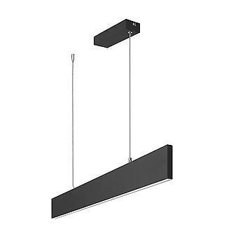 Forlight Thin - Colgante lineal LED Negro 22.9W 3000K 751lm