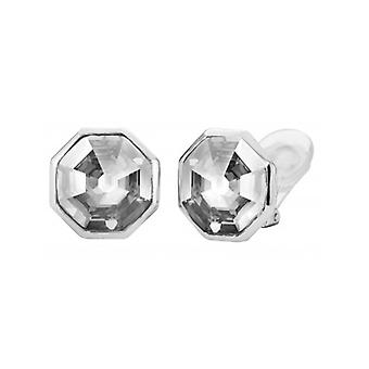 Traveller Clip Earring - Hexagon - Rhodium Plated - 156962 - 717