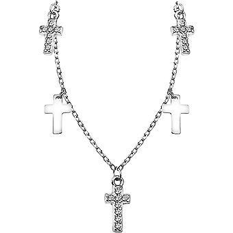 Wokex - Damen Halskette mit Kreuz Anhnger - Aus echtem 925 Sterling Silber - 50283