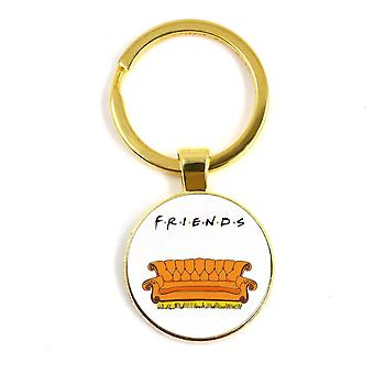 Keychain Anniversary Series, Cartoon Fun Pattern, Glass Cabochon Key Ring,