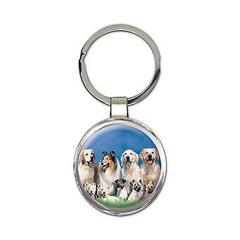 Geschenk Schlüsselanhänger: Collie und andere Hunde Hund