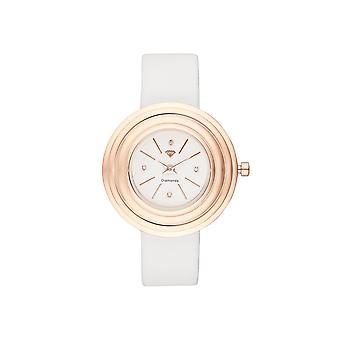 Women's Watch Romane Diamonds 0.012 carats - White dial White leather bracelet