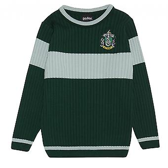 Harry Potter Boys Slytherin Quidditch Knitted Jumper