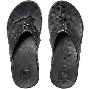 Reef Mens Cushion Phantom Summer Beach Holiday Sandals Thongs Flip Flops - Black