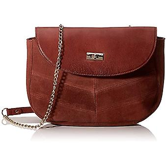PIECES Pcnuka Suede Cross Body Fc - Women's Crossbody Bags, Red (Picante), 7x18x24 cm (B x H T)