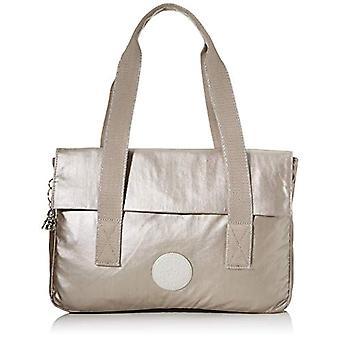 Kipling PERLANI S Messenger Bag, 38 cm, 10.5 Liters, Silver (Metallic Glow)