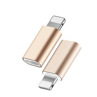Adapter Lightning (męski) i USB-C (żeński) Złoty