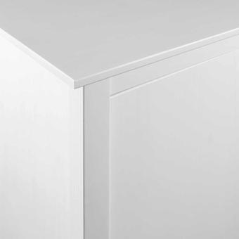 vidaXL Kleiderschrank mit 2 Türen Hill Range Weiß 99x45x137 cm Kiefer