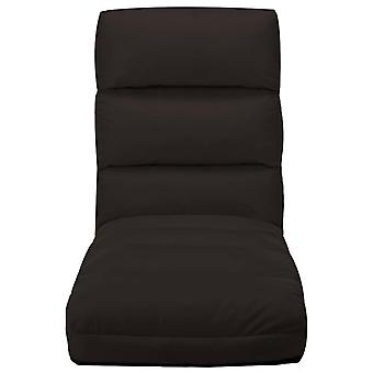 vidaXL chaise pliante brun en simili-faux