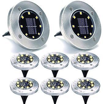 Garden solar disk lights 8 led dt4428
