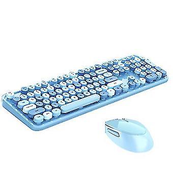 Blåt trådløst tastatur og mus combocute trådløst tastatur x7362