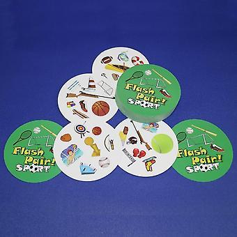 Flash pari eläimet lauta peli spot se urheilu & aakkoset lapsille perhe hauska kaksinkertainen se englanti versio kortti peli lahjat