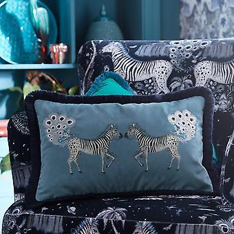 Lost World Cushion By Emma J Shipley In Blue