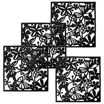 Fashion 4 Pieces Of Bird Flower Butterfly Pendant Partition Screen Divider