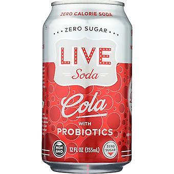 Live Soda Soda Live Cola 6Pk, Case of 4 X 72 Oz