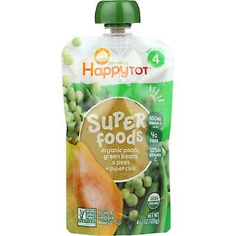 Happy Tot Sprfds Grnbns Pears&Peas Org, Case of 16 X 4.22 Oz