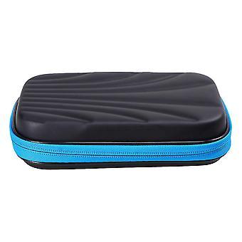実用的なダーツは箱のダーツストルガエバッグ大容量ダーツコンテナを持つケースポータブルダーツを運ぶ家庭用屋外用(青+黒)