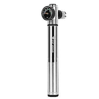 1pc 300psi Spezielle Inflator Hochdruck Luftpumpe LuftdruckSpur Gurt Reifen Pumpe tragbare Luftpumpe für Fahrrad (silber)