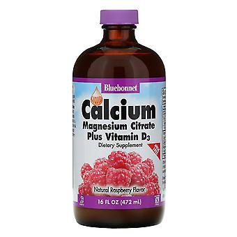 Bluebonnet Nutrition, Liquid Calcium, Magnesium Citrate Plus Vitamin D3, Natural