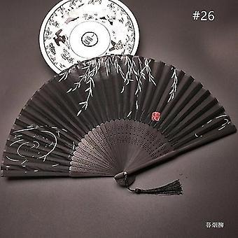 Chinesische Vintage Stil Falten Fan Kunst Handwerk Geschenk Tanz Hand Fan Home Decoration Ornamente(#26)