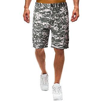 Allthemen Men's Camouflage Casual Cotton Mid-rise Straight-leg Shorts