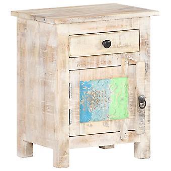 vidaXL Bedside Table 40x30x50 cm Rough acacia wood