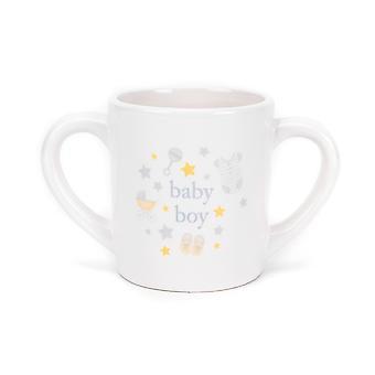 Hola bebé doble mango taza 'Baby Boy'