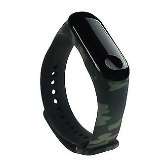 Correa de reemplazo Soft TPU para Xiaomi Mi Band 3/4 - Camouflage Green
