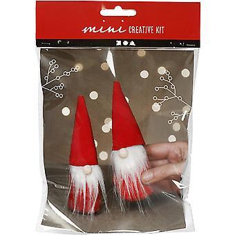 Joulutontut tai gonkit ompelevat käsityösarjaa | Tee se itse -koristelu