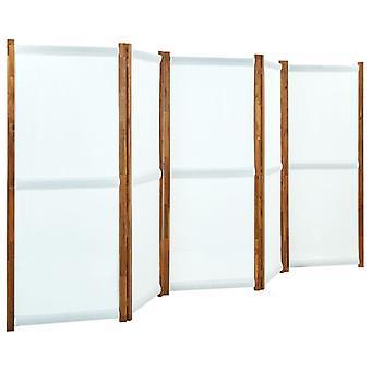 vidaXL 5 pcs. Room divider cream white 350x170 cm
