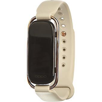 Smart Watch Tracker in stile banda OPPO con display AMOLED a colori da 1,1 pollici (bianco)