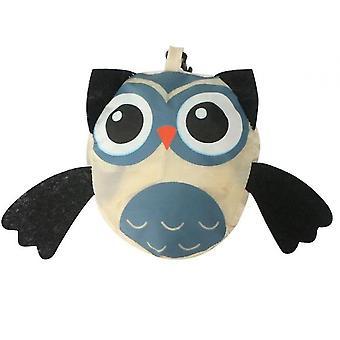 Animal Shopping Bag Portable Cute Owl Folding Storage Bag(Beige)