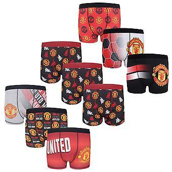 Manchester United Boys Boxer šortky 3 Pack Crest Kids OFICIÁLNY futbalový darček