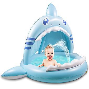 Barnebasseng, Sprinkler for barn, Baby hai basseng med baldakin på 43 inches