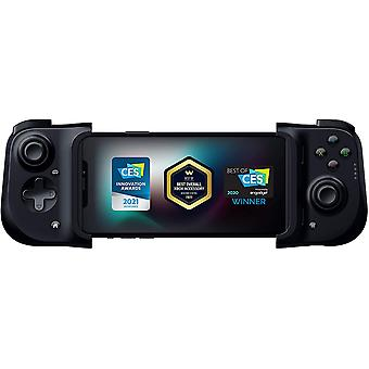 Razer Kishi Mobile Game Controller / Gamepad pour iPhone iOS: Fonctionne avec la plupart des iPhones - iPhone X, 11, 12 - Apple Arcade, Amazon Luna, Google Stadia - Lightning Port Passthrough - MFi Certified (noir)