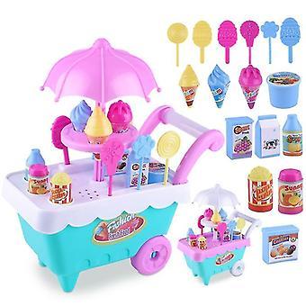 1 Set Kids Toy- Trolley Role Play Mini Simulation Birthday Play House (willekeurig)