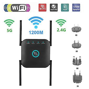 Wifi Repeaters 2.4g Booster 5g Router 1200mbps Dual Band Extender Signal Amplifier